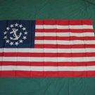 Yacht Ensign American Flag 3x5 feet Anchor Sail Boat Nautical Sailing banner new