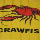 Crawfish Flag 3x5 feet Craw Fish Seafood banner sign