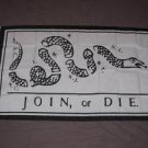 Join or Die Flag 3x5 feet Benjamin Franklin American Revolution banner