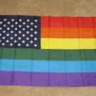 USA Rainbow Flag 3x5 feet New Glory Gay Pride LGBT new