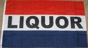 Liquor Flag 3x5 feet Store Shop Bar beer whickey wine