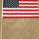 American Flag 12x18 inches US banner United States banner wooden stick