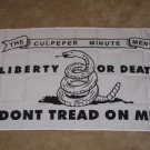 Culpeper Minutemen Flag 3x5 feet Don't Tread On Me Liberty or Death Tea Party