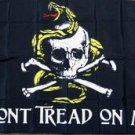 Don't Tread On Me Pirate Flag 3x5 feet Coiled Snake cross bones tea party new