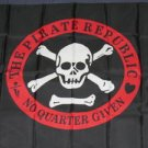 Pirate Republic Flag 3x5 feet No Quarter Given Skull