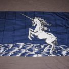 Unicorn flag 3x5 feet Blue banner fantasy magic myth mystical new