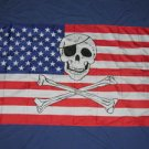 Pirate American Flag 3x5 US USA Jolly Roger banner new