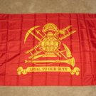 Fire Fighter Flag 3x5 feet Loyal to our duty Fireman Dept Department firemen new