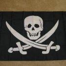 Calico Jack Pirate Flag 3x5 feet John Rackam Jolly Roger Skull & Cross Swords