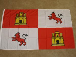 Spanish Royal Standard Flag 3x5 feet Spain Lion & Castle banner and new