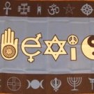 Coexist Flag 3x5 feet Peace Love Harmony Religious sign