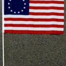 Betsy Ross Stick Flag 12x18 inches 13 Star American banner wooden removable new