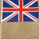 Great Britain Flag 12x18 inches British banner Union Jack wooden stick