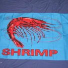 Shrimp Flag 3x5 feet seafood advertising banner sign restaurant new