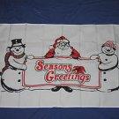 Season's Greeting Christmas Flag 3x5 feet Santa Claus Frosty the Snowman merry