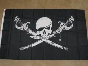 Brethren of the Coast Pirate flag 3x5 feet skull swords