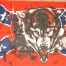 Confederate Wolf Flag 3x5 feet Rebel wolves banner
