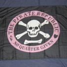 Pirate Republic Flag 3x5 feet No Quarter Given banner