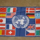 United Nations Country Flag 3x5 feet UN banner new