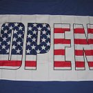Open Flag 3x5 feet American USA banner advertising sign welcome new