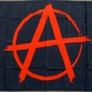 Anarchy Flag 3x5 feet anarchist symbol black punk rock red a circle