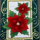 Poinsettia Garden Flag 28x40 inches Christmas Banner happy holiday season xmas