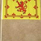 Scotland Flag 12x18 inches new Rampant Lion banner wooden stick