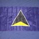 St Lucia Flag 3x5 feet banner Saint St. new
