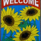 Welcome Garden Flag 28x40 inches Sunflower Greetings vertical banner new sleeve
