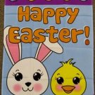 Happy Easter Garden Flag 28x40 inches Sleeve Bunny Chick Painted Eggs new