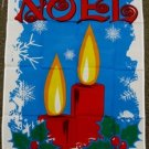 Noel Garden Flag 28x40 inches Christmas banner happy holiday season candles new