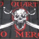 No Quarter Mercy Pirate Flag 3x5 feet Jolly Roger skull