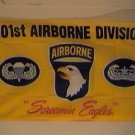 101st Airborne Screaming Eagles Flag 3x5 feet Army Division banner yellow new