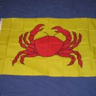 Crab Flag 3x5 feet Seafood restaurant
