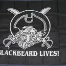 Blackbeard Lives Flag 3x5 feet Pirate banner Jolly Roger swords new