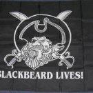 Blackbeard Lives Flag 3x5 feet Pirate banner Jolly Roger swords new