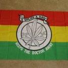 A Spliff a Day Keeps the Doctor Away 3x5 feet Marijuana Leaf banner weed pot new