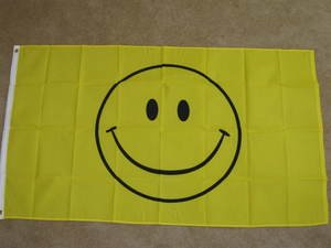 Smiley Face Flag 3x5 feet Smile yellow banner have a nice day Happy new