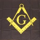 Mason Flag 3x5 feet Black Masonic freemasonry banner