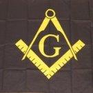 Mason Flag 3x5 feet Black Masonic freemasonry banner