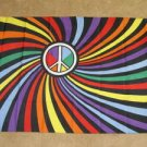 Rainbow Peace Sign Flag 3x5 feet symbol 60's party new
