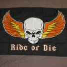 Ride or Die Flag 3x5 feet Motorcycle Rider banner biker skull wings pirate new