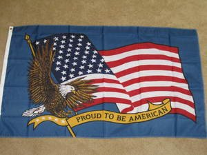 Proud to be an American Flag 3x5 feet banner US USA new