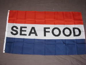 Sea Food Flag 3x5 feet Seafood advertising banner ad sign restaurant market deli