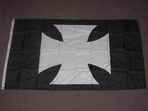 Maltese Cross Flag 3x5 feet Iron German Germany new