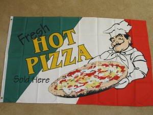 Hot Pizza Flag 3x5 Pizzareia banner sign restaurant new