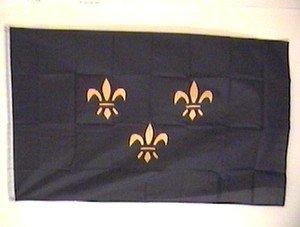 Fleur de Lis Flag 3x5 feet French France