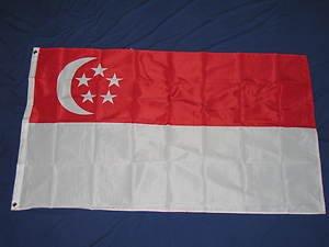 Singapore Flag 3x5 feet Singaporean national banner sign new