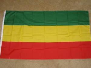 Ethiopia Flag 3x5 feet Ethiopian banner Rasta banner