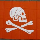 Henry Avery Pirate Flag 3x5 feet Crimson Red Every banner Skull & Cross Bones